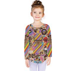 Background Images Colorful Bright Kids  Long Sleeve Tee