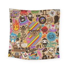 Background Images Colorful Bright Square Tapestry (small)