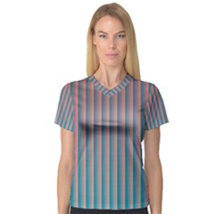 Hald Simulate Tritanope Color Vision With Color Lookup Tables Women s V Neck Sport Mesh Tee