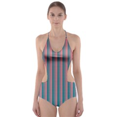 Hald Simulate Tritanope Color Vision With Color Lookup Tables Cut-Out One Piece Swimsuit