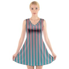 Hald Simulate Tritanope Color Vision With Color Lookup Tables V Neck Sleeveless Skater Dress