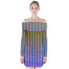 Hald Identity Long Sleeve Off Shoulder Dress