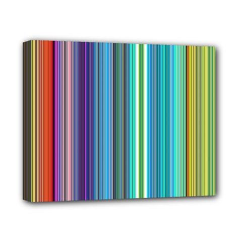 Color Stripes Canvas 10  x 8