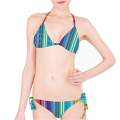 Color Stripes Bikini Set