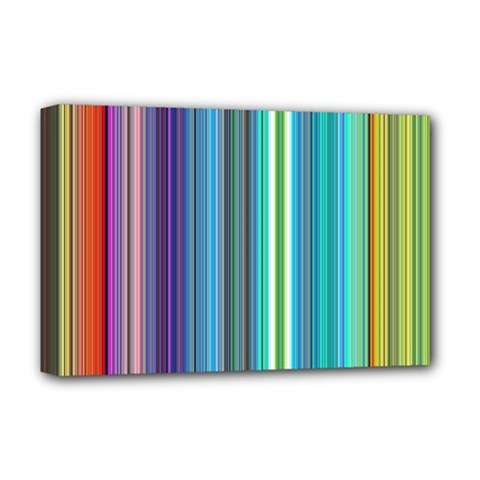 Color Stripes Deluxe Canvas 18  x 12