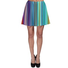 Color Stripes Skater Skirt