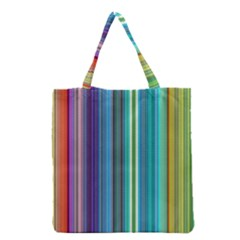 Color Stripes Grocery Tote Bag