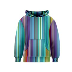 Color Stripes Kids  Pullover Hoodie