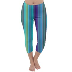 Color Stripes Capri Winter Leggings
