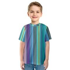 Color Stripes Kids  Sport Mesh Tee