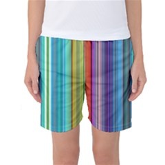 Color Stripes Women s Basketball Shorts