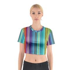 Color Stripes Cotton Crop Top