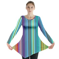 Color Stripes Long Sleeve Tunic