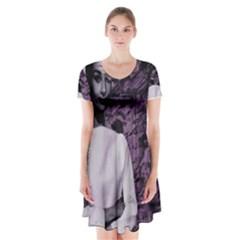 Audrey Hepburn Short Sleeve V-neck Flare Dress