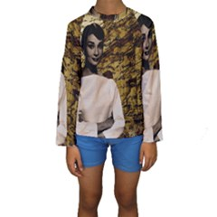 Audrey Hepburn Kids  Long Sleeve Swimwear