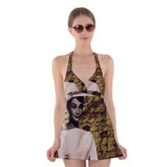 Audrey Hepburn Halter Swimsuit Dress
