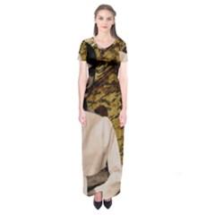 Audrey Hepburn Short Sleeve Maxi Dress