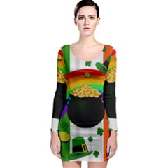 Pot of gold Long Sleeve Bodycon Dress