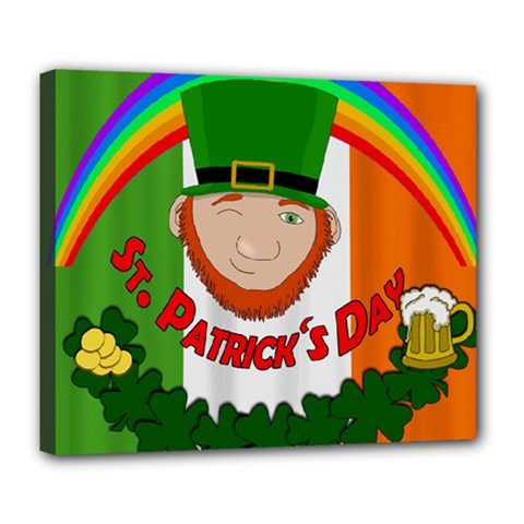St. Patricks day  Deluxe Canvas 24  x 20