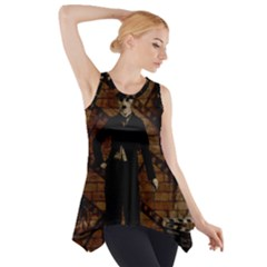 Charlie Chaplin  Side Drop Tank Tunic