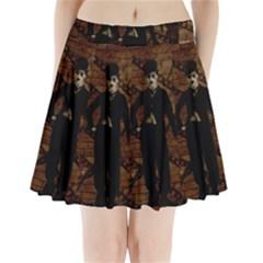 Charlie Chaplin  Pleated Mini Skirt