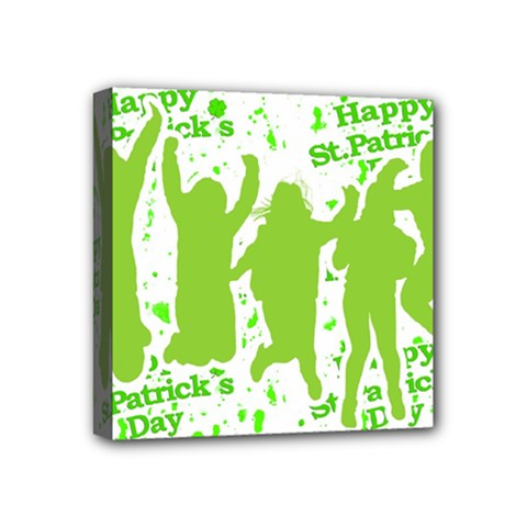 Saint Patrick Motif Mini Canvas 4  x 4