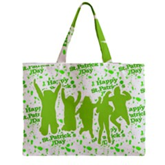 Saint Patrick Motif Medium Zipper Tote Bag