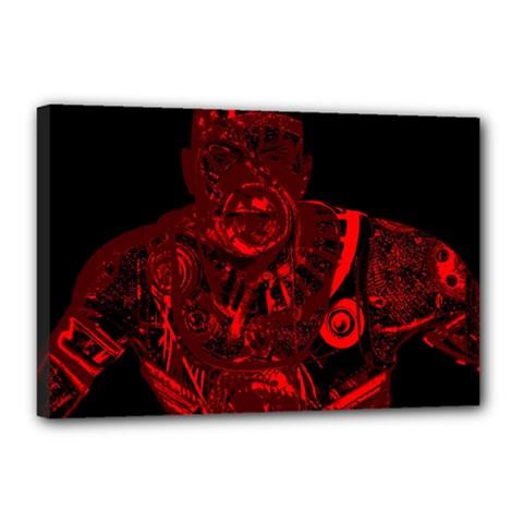 Warrior - red Canvas 18  x 12