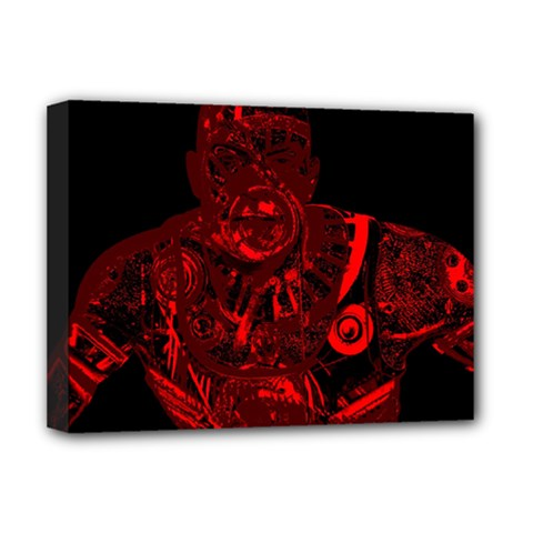 Warrior - red Deluxe Canvas 16  x 12