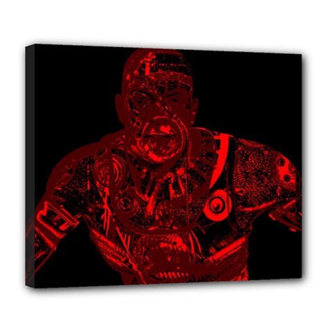Warrior - red Deluxe Canvas 24  x 20