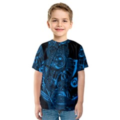 Warrior - Blue Kids  Sport Mesh Tee