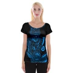 Warrior - Blue Women s Cap Sleeve Top