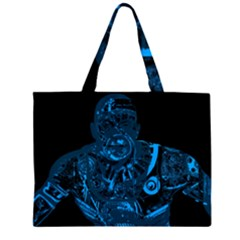 Warrior - Blue Large Tote Bag