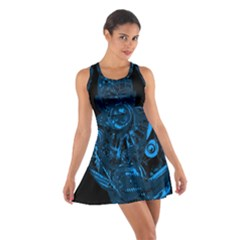 Warrior - Blue Cotton Racerback Dress