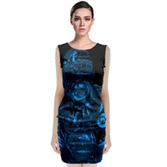 Warrior - Blue Classic Sleeveless Midi Dress