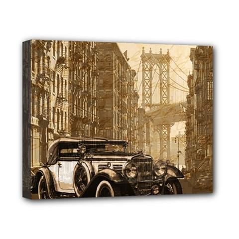 Vintage Old car Canvas 10  x 8