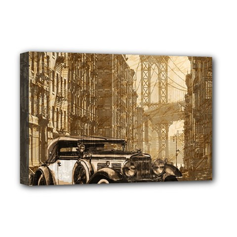 Vintage Old car Deluxe Canvas 18  x 12