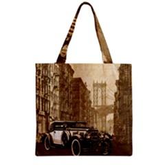 Vintage Old car Grocery Tote Bag