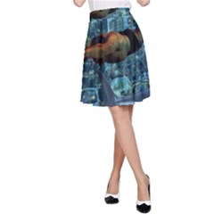 Urban swimmers   A-Line Skirt