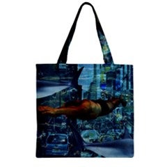 Urban swimmers   Zipper Grocery Tote Bag