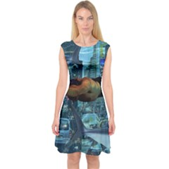 Urban swimmers   Capsleeve Midi Dress