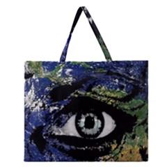 Mother Earth  Zipper Large Tote Bag