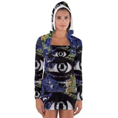Mother Earth  Women s Long Sleeve Hooded T-shirt