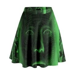 Code  High Waist Skirt