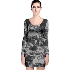 Angel Long Sleeve Velvet Bodycon Dress
