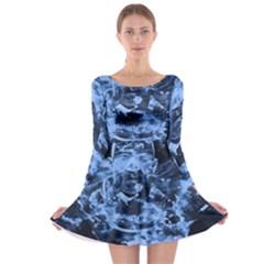 Blue angel Long Sleeve Skater Dress