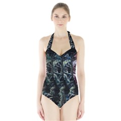 Cyber kid Halter Swimsuit