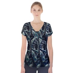 Cyber kid Short Sleeve Front Detail Top