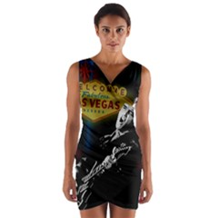 Elvis Presley - Las Vegas  Wrap Front Bodycon Dress