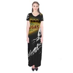 Elvis Presley - Las Vegas  Short Sleeve Maxi Dress
